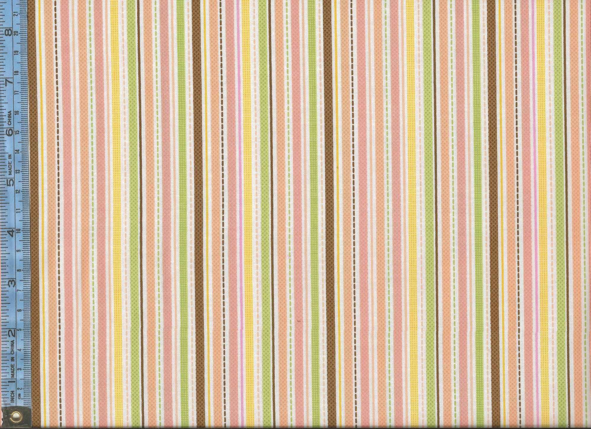Sweet Baby Girl (C4293 Orange)   Green Orange Brown And Yellow Stripes And