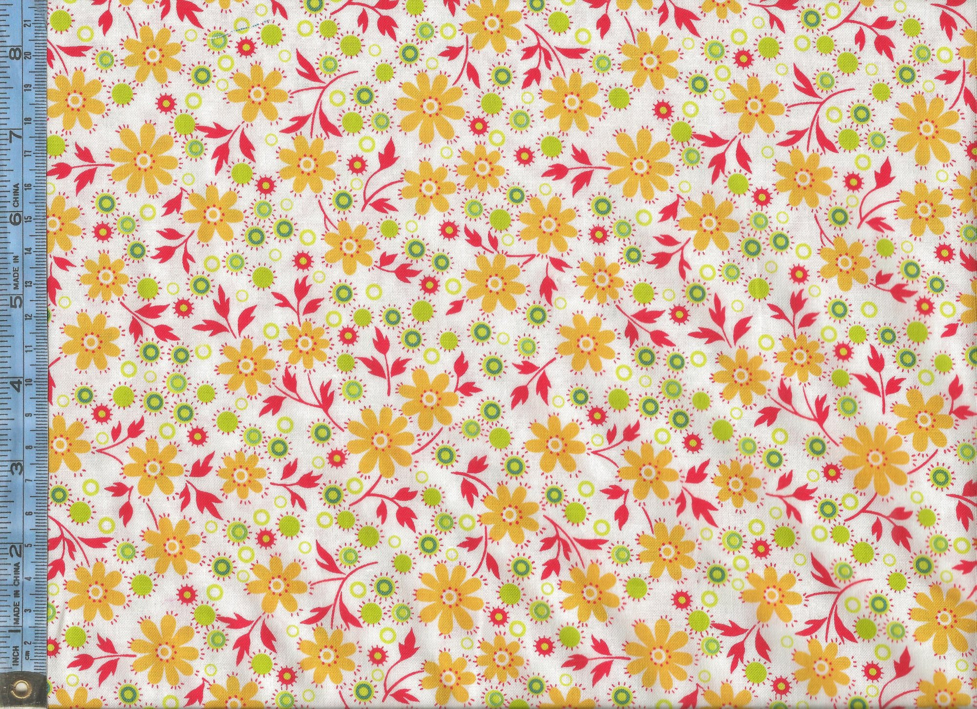 Little Red Hen Yellow Flowers With Red Leaves On White Background