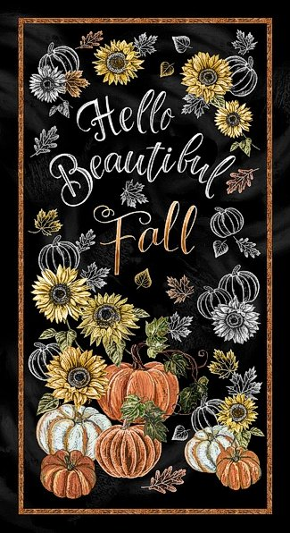 Welcome Fall panel from Timeless Treasures Fabrics