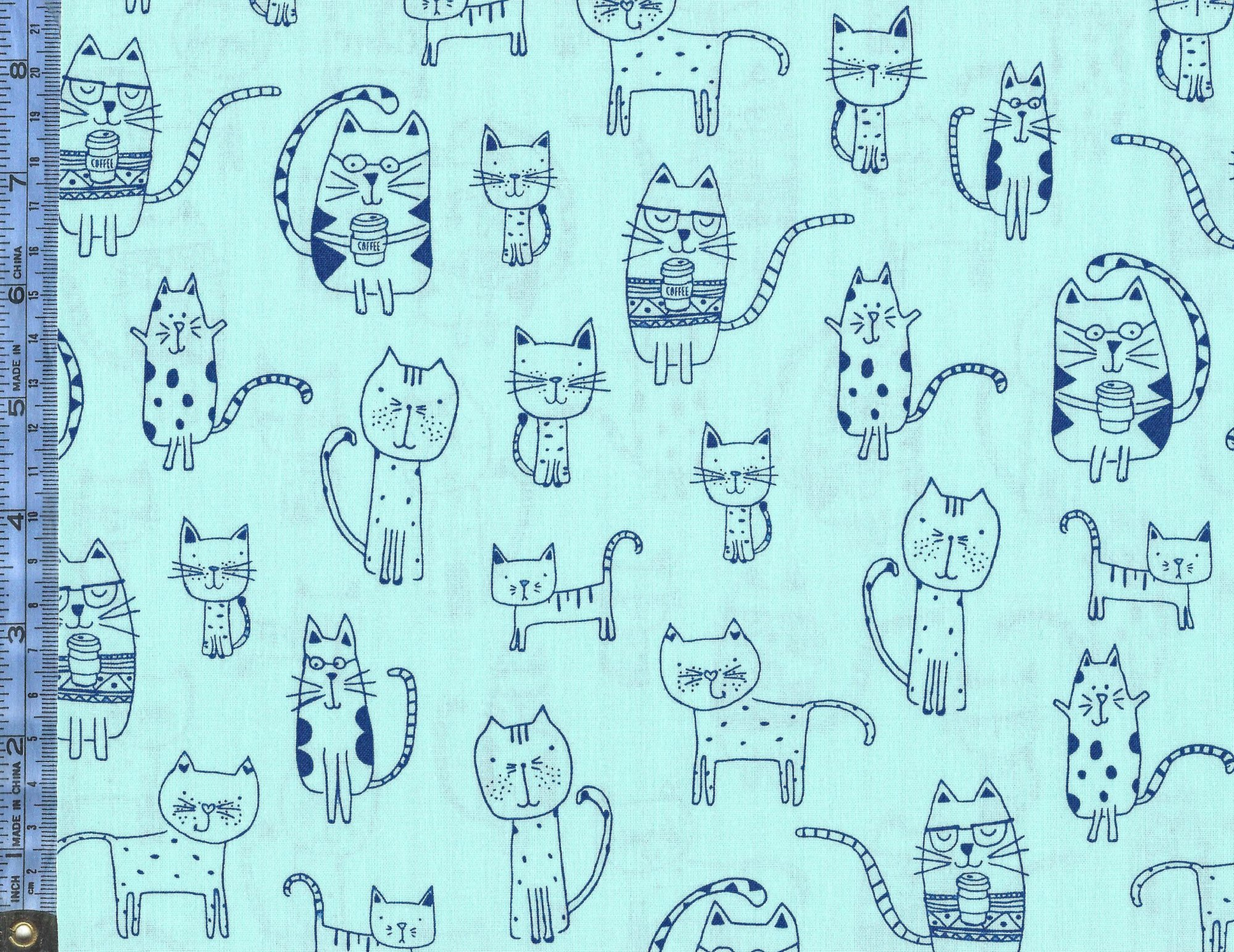 Whiskers and Tails from Robert Kaufman Fabrics