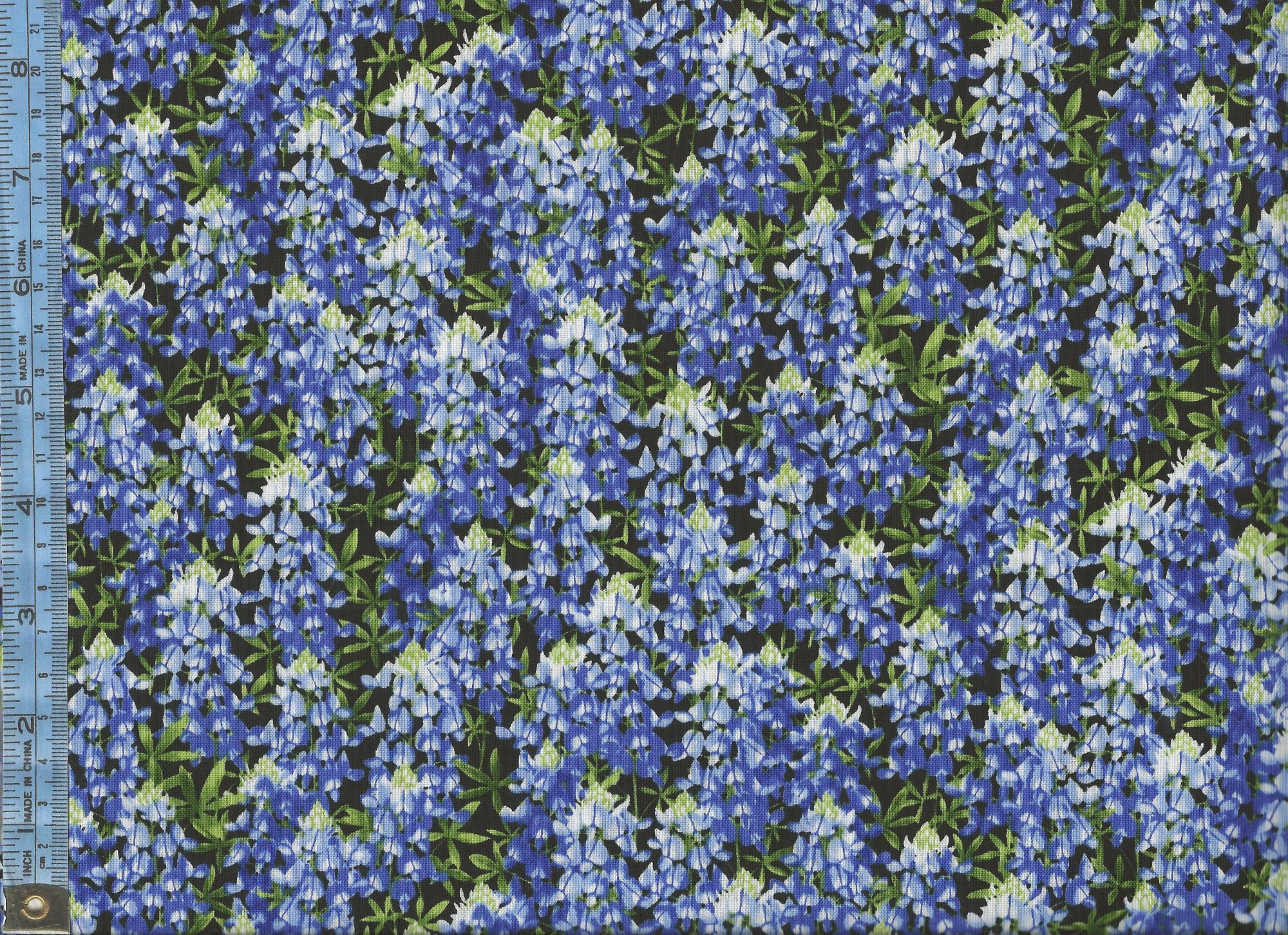Wildflowers Blue And White Flowers Bluebonnet With Green Leaves
