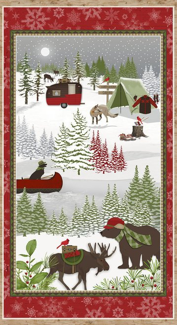 Woodland Haven 2-Ply Flannel panel from Henry Glass & Company