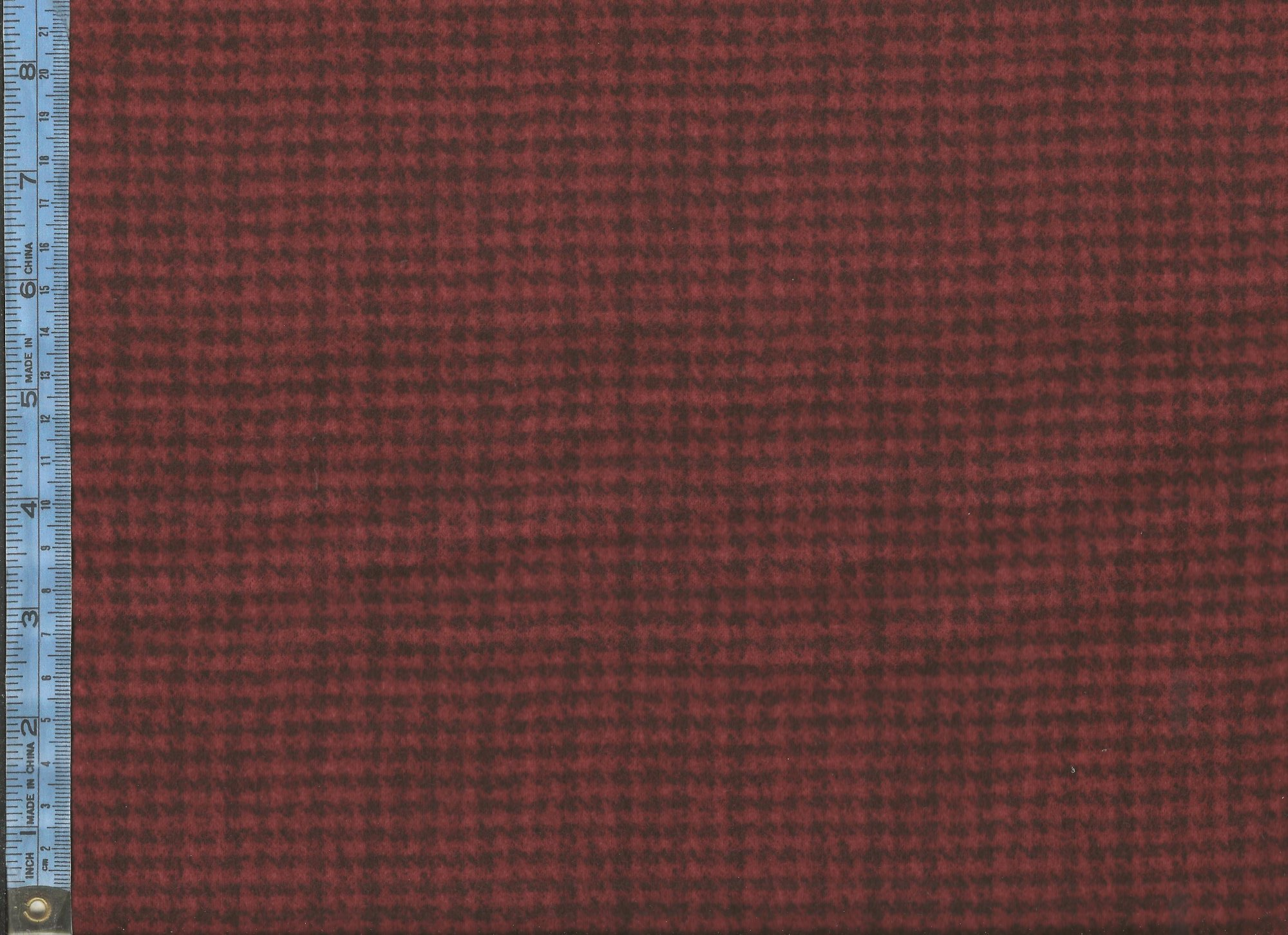 Woolies Flannel - (MASF18503-RJ ) dark red houndstooth