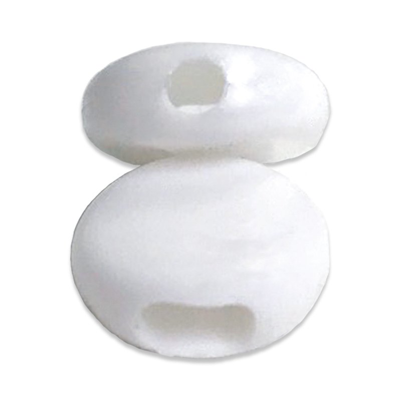 Mask Beads For Elastic White 50ct