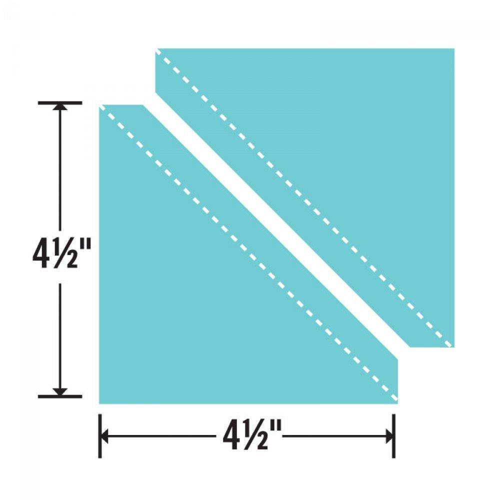 Sizzix Bigz Die - Half-Square Triangles 4 1/2 Assembled Square