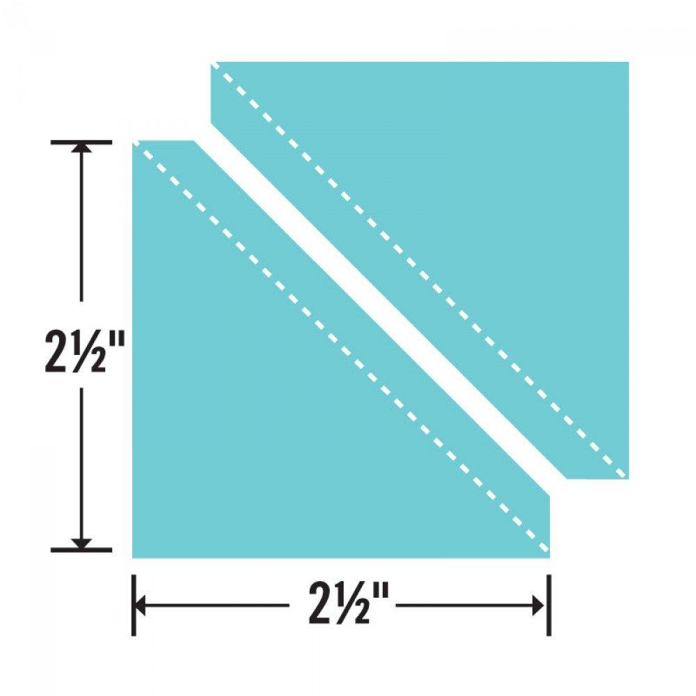 Sizzix Bigz Die - Half-Square Triangles 2 1/2 Assembled Square