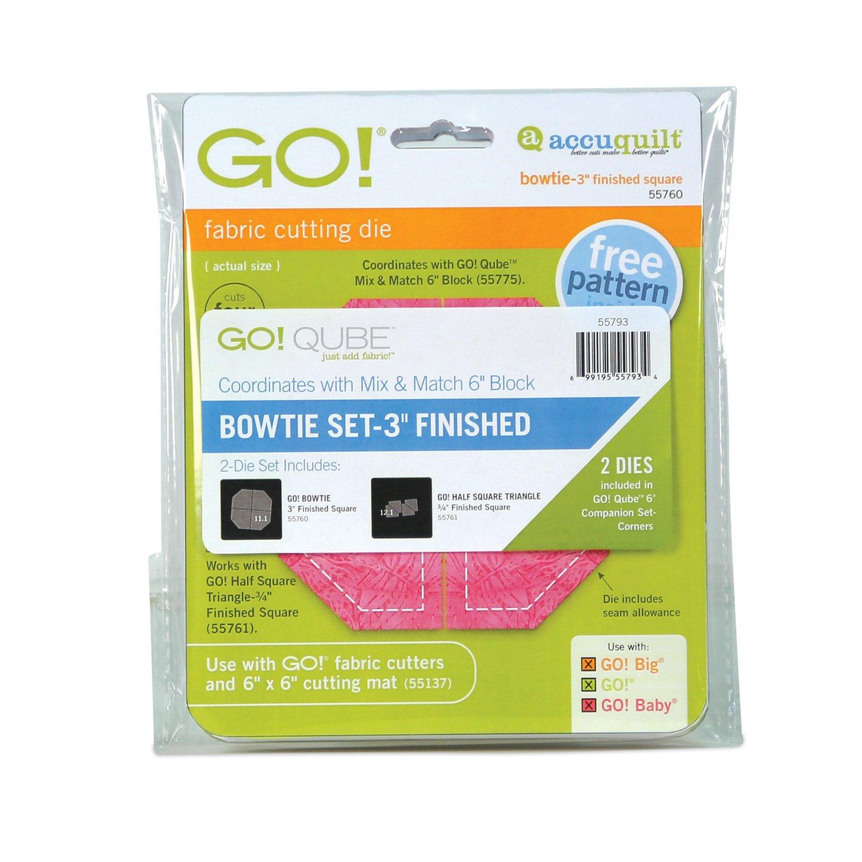 AccuQuilt GO! Bowtie Set 3 Finished (2-die set) 55793