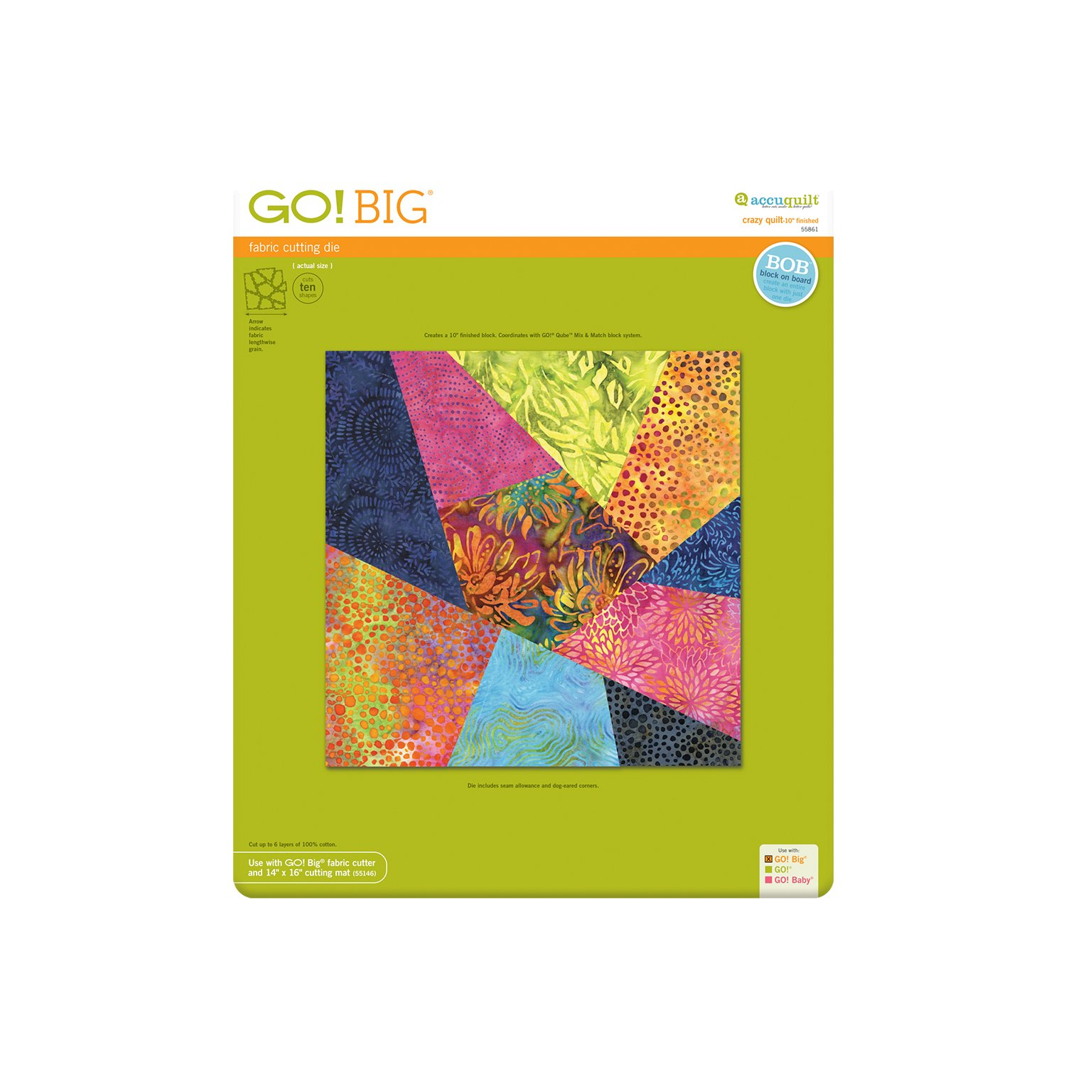 Accuquilt GO! Big Crazy Quilt 10 55861