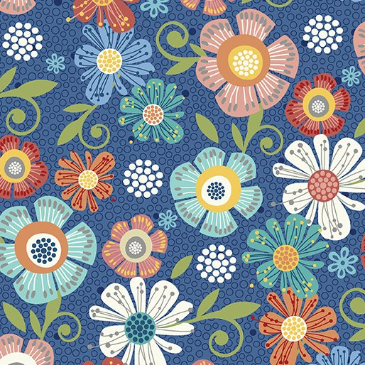 Home Grown Floral Navy 6802-11