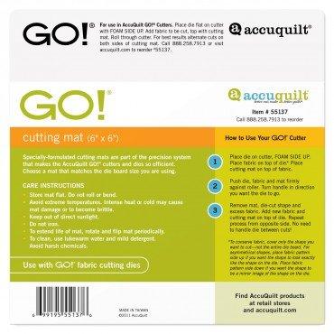 AccuQuilt GO! Cutting Mat-6 x 6 55137