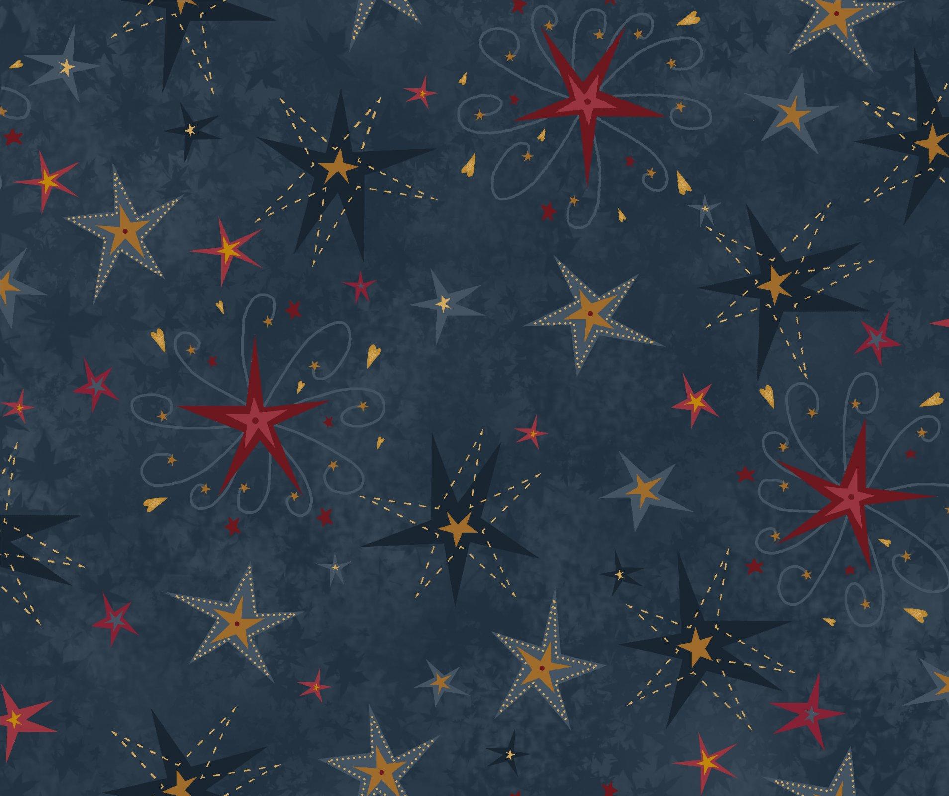 Buggy Barn Blue Star Flannel 8236F-77