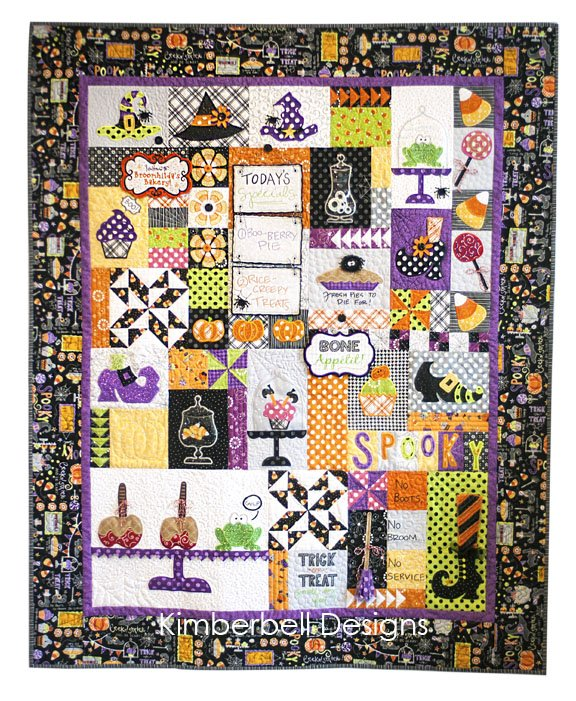 Broomhilda's Bakery Quilt Kit Black Border