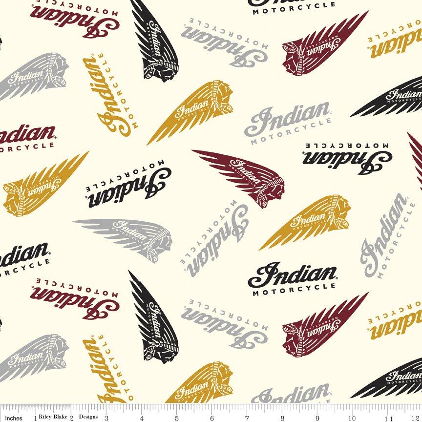 Indian Motorcycle Logos Cream C7381-CREAM