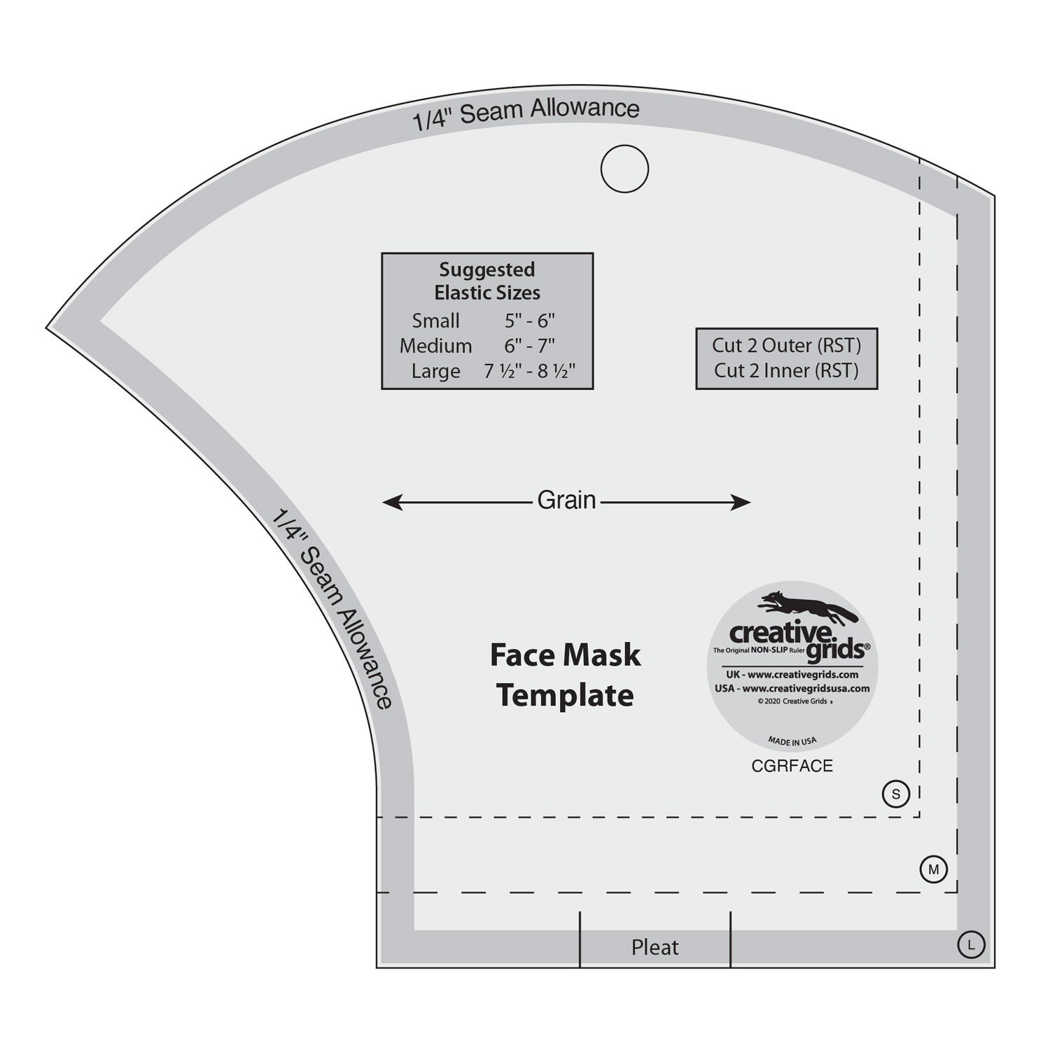 Creative Grids Face Mask Template CGRFACE
