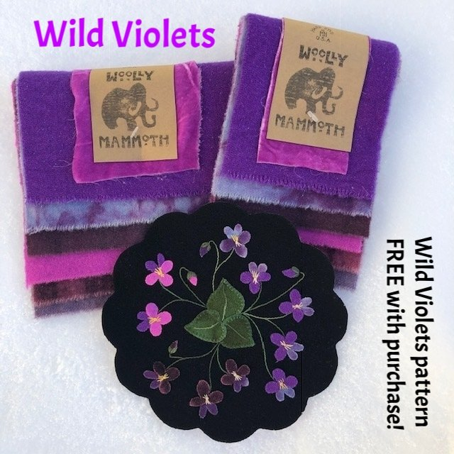 Wild Violets Mammoth Pack with FREE Pattern