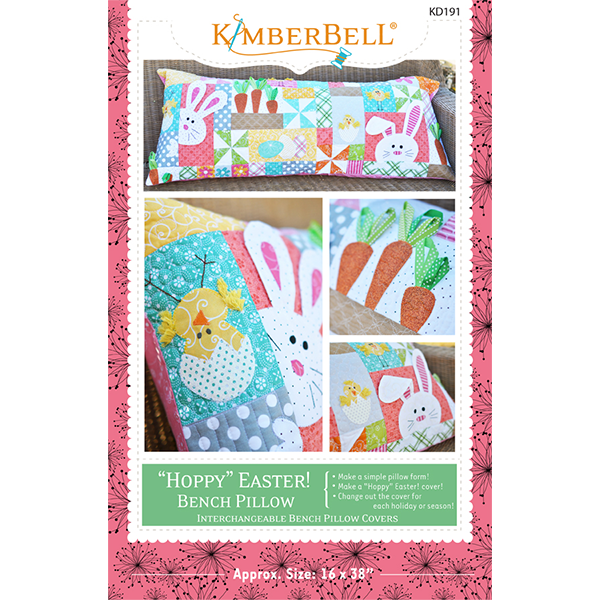 Hoppy Easter Bench Pillow Sewing Version KD191