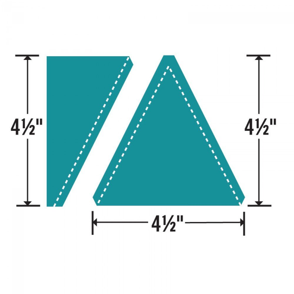 Sizzix Bigz L Die - Triangles Isosceles & Right 4 1/2 H Assembled