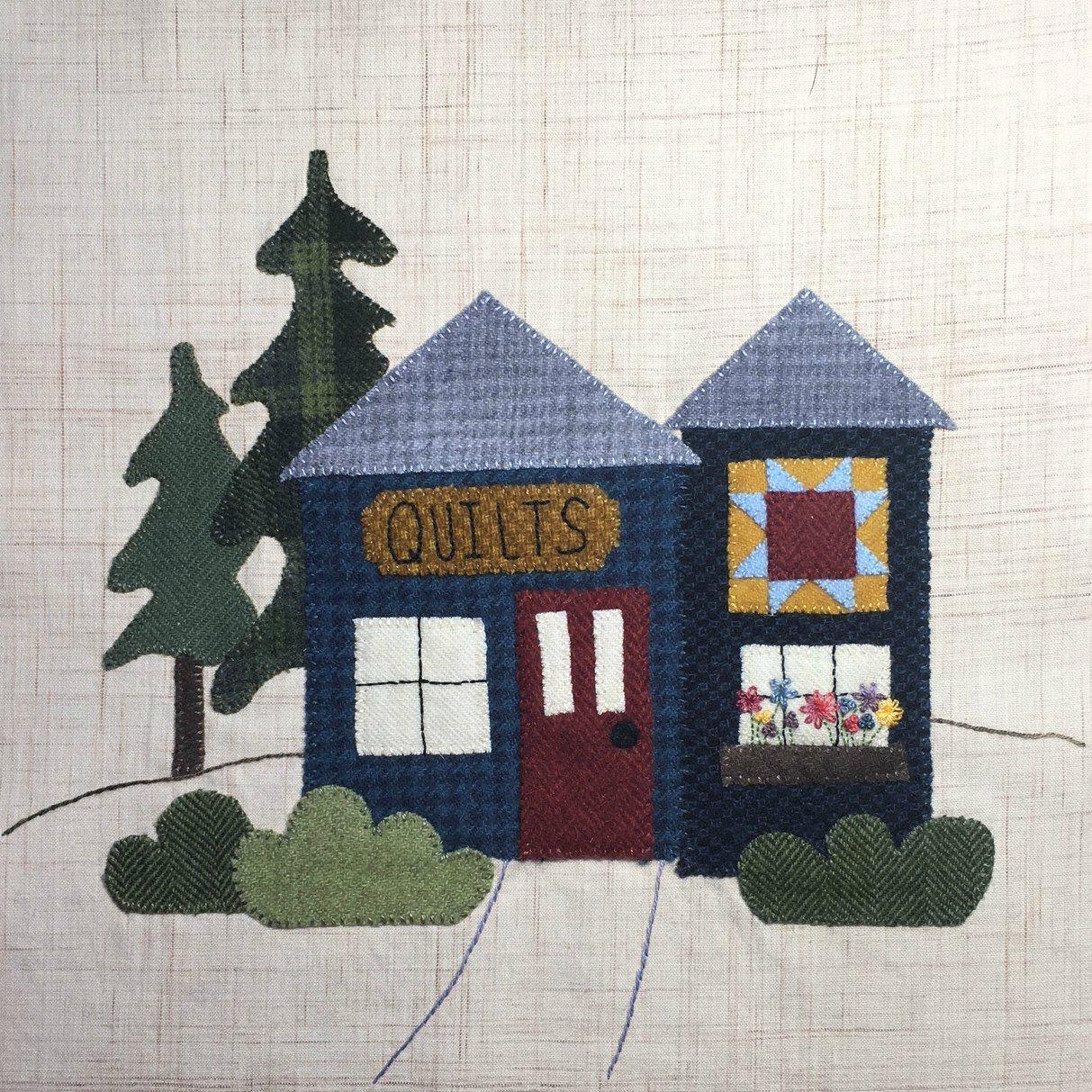 It Takes a Village Quilt Shop Block