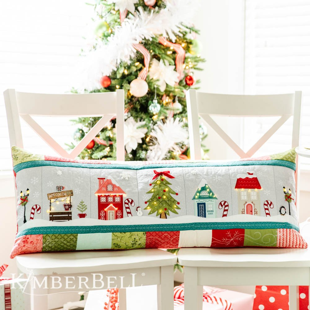 Candy Cane Lane Bench Pillow Kit Includes Fabric and Embellishments