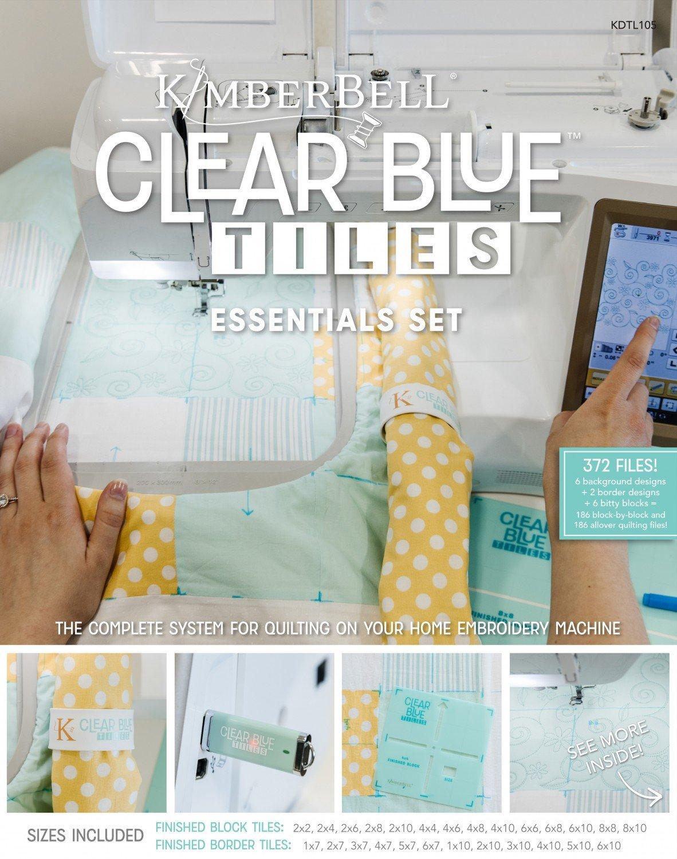 Clear Blue Tiles Essentials Set from Kimberbell Designs KDTL105