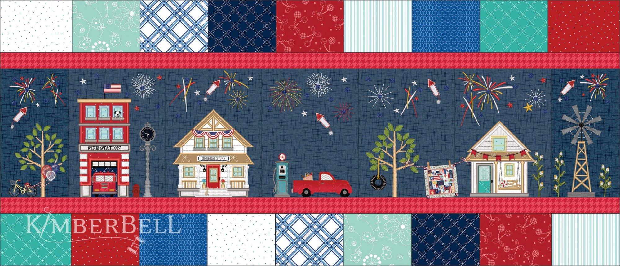Main Street Celebration Bench Pillow Kit with Embellishment Pack