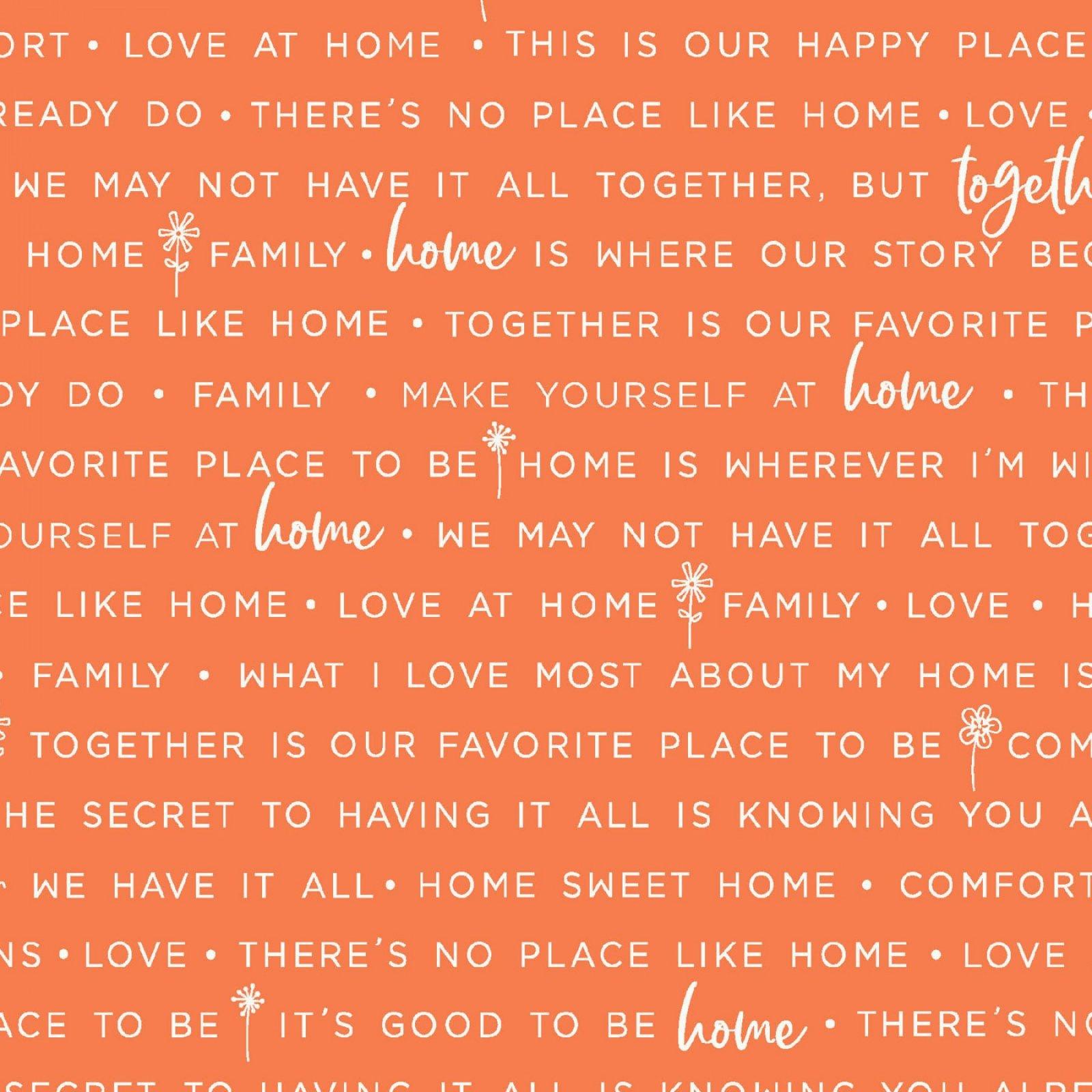 Make Yourself at Home Home Phrases Orange MAS9395-O