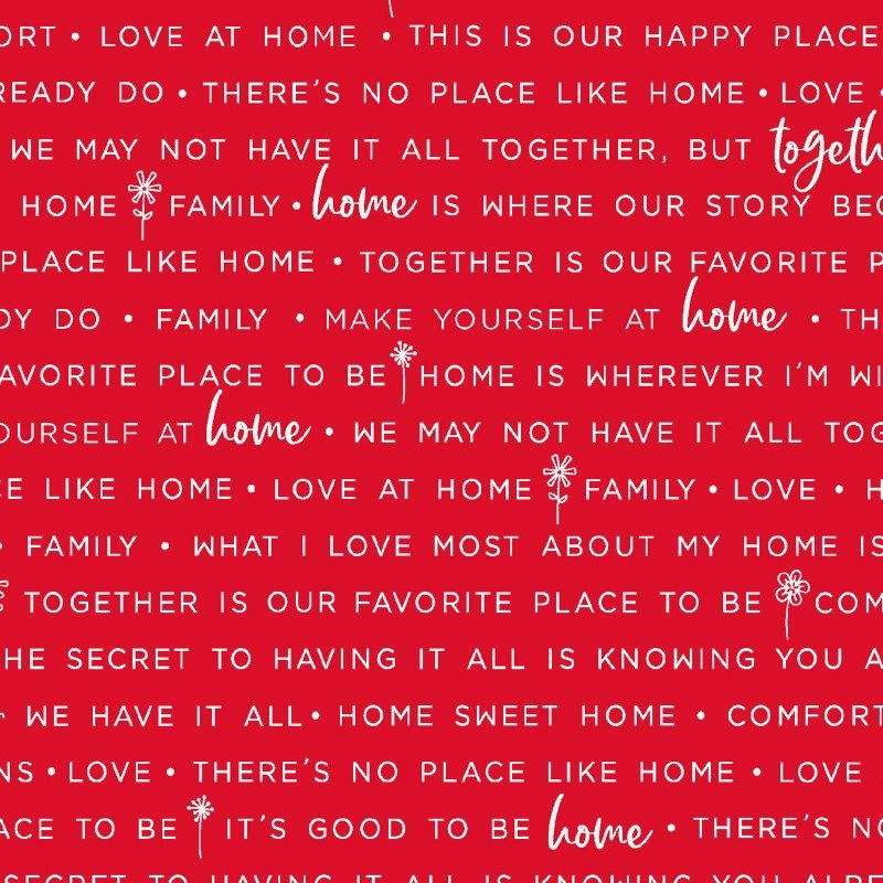 Make Yourself at Home Home Phrases Red MAS9395-R