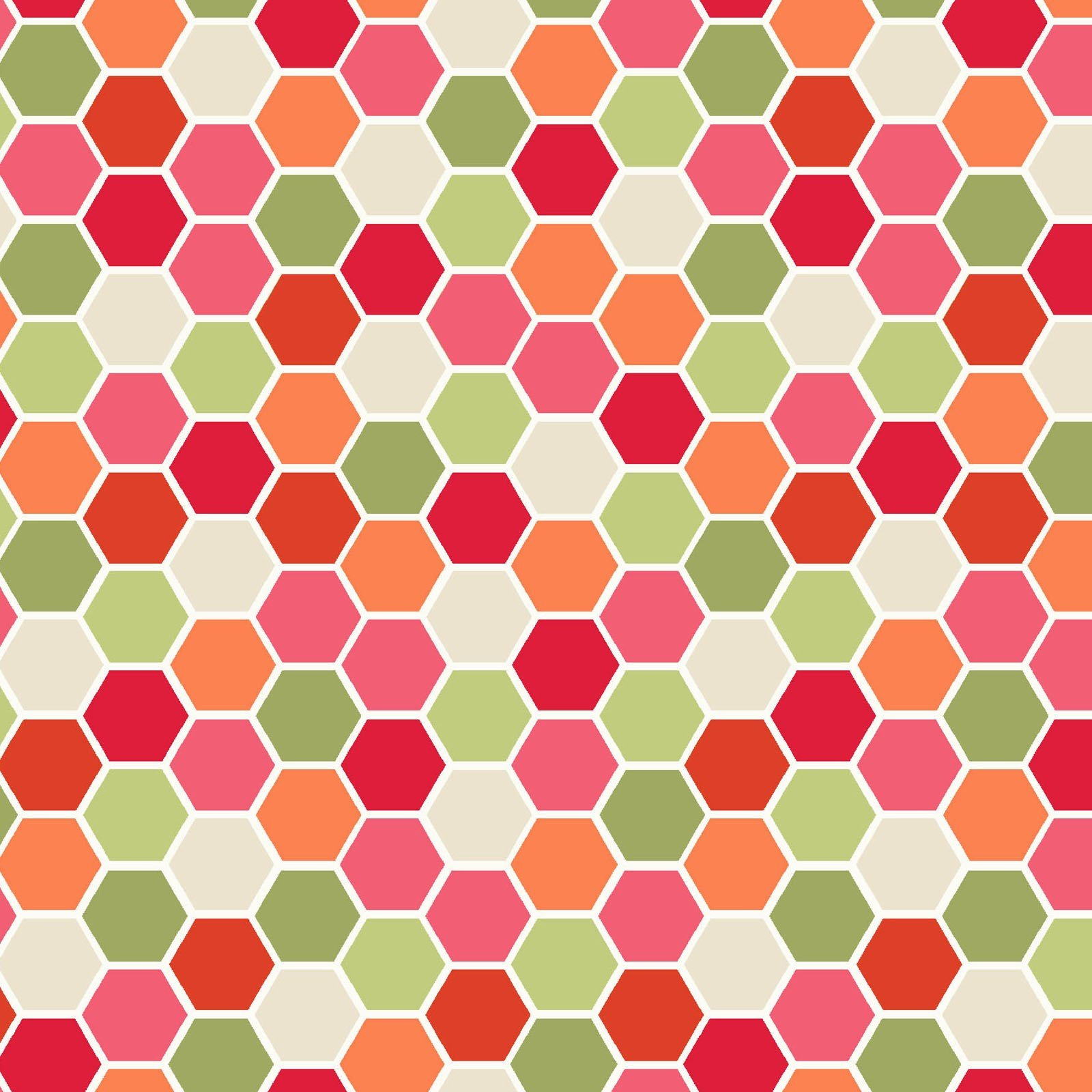 Make Yourself at Home Mini Hexagons Red/Green MAS9398-RG