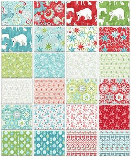 Nordic Holiday Fat Quarters 15pcs by Amanda Murphy