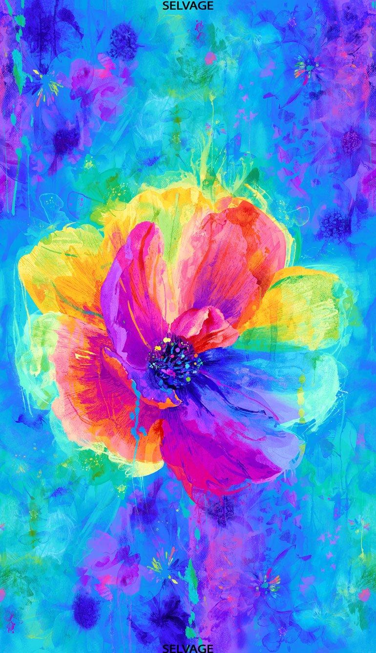 Spirit Anemone Flower Panel 24in PANEL-CD7134