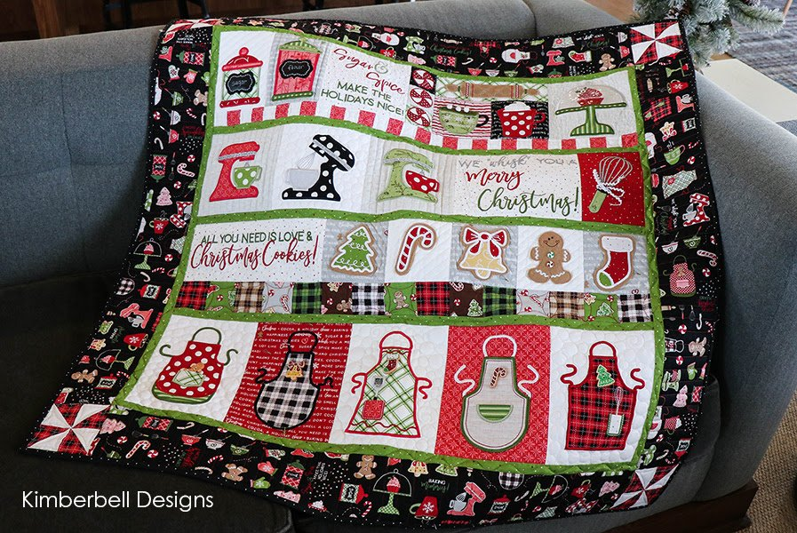 We Whisk You a Merry Christmas Quilt Kit Black Border