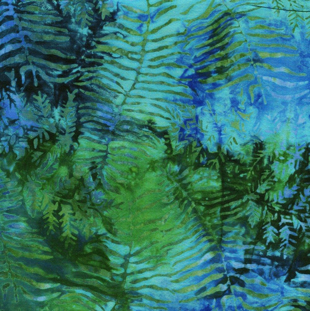 Sewing Sewcial 2019 Blue/Green Leaf