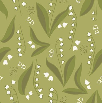 Quilt MN 2018 Lily of the Valley Dark Olive Y2445-25