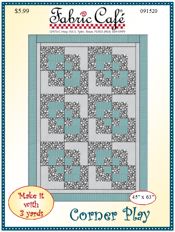 Corner Play 3 Yard Quilt Pattern