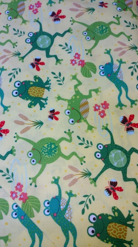 Playful Frogs on Yellow background