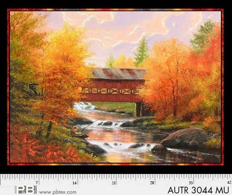 Autumn Tranquility Bridge Panel