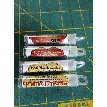 Chenille Needles - tube of 12 needles