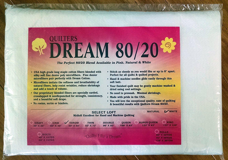 Quilters Dream 80/20 -White-Queen Batting