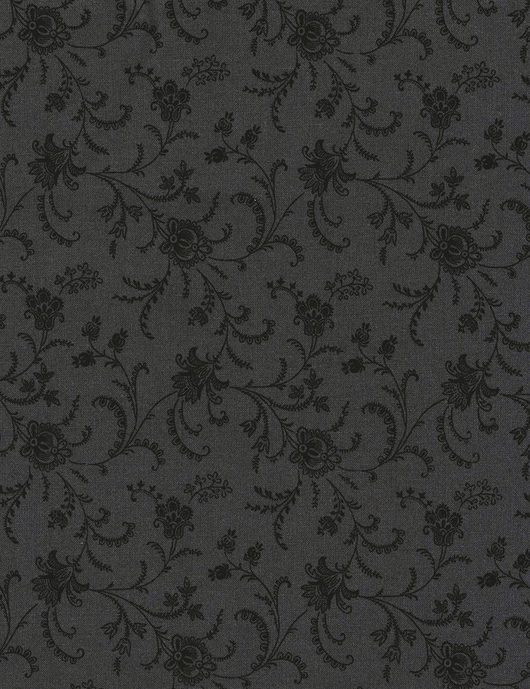 108 Floral - Charcoal from Timeless Treasure