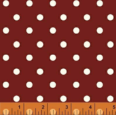FLANNEL BIG DOTS  RED