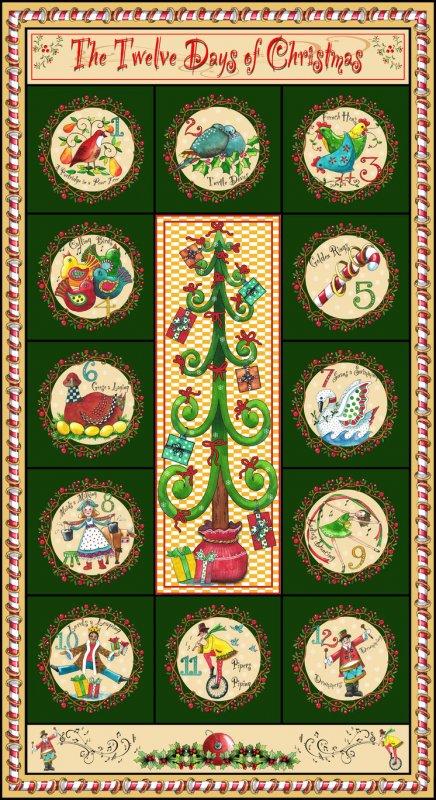 Twelve days of Christmas Panel