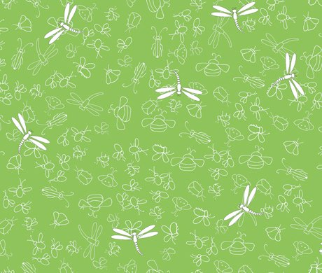 It's a Pond Party Dragonflies and bugs fabric