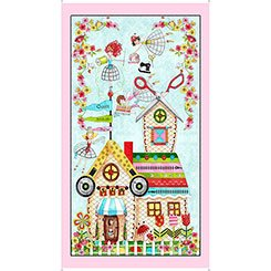 The Quilted Cottage Panel 26422-X