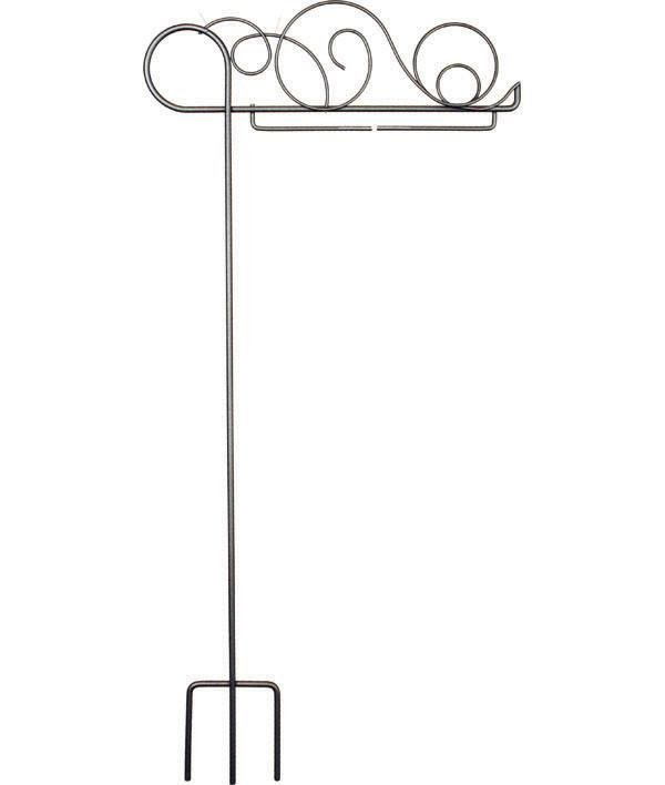 6 X 12 Meandering Pot Stake Hanger in Charcoal  (QA-11d)