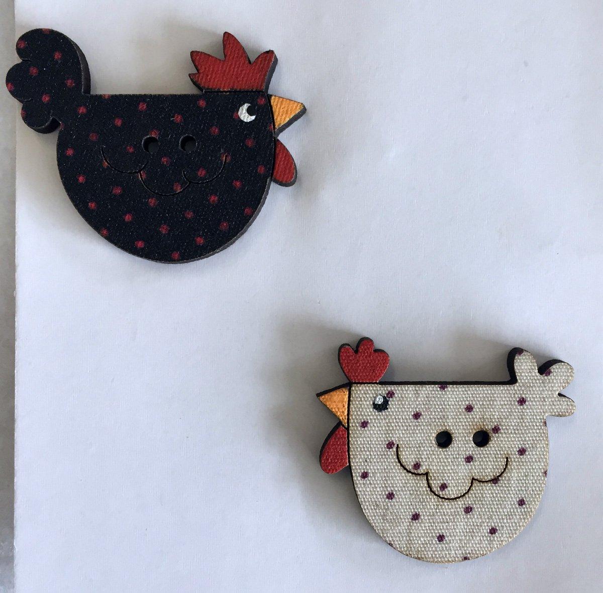 Polka Dot Chicken Buttons