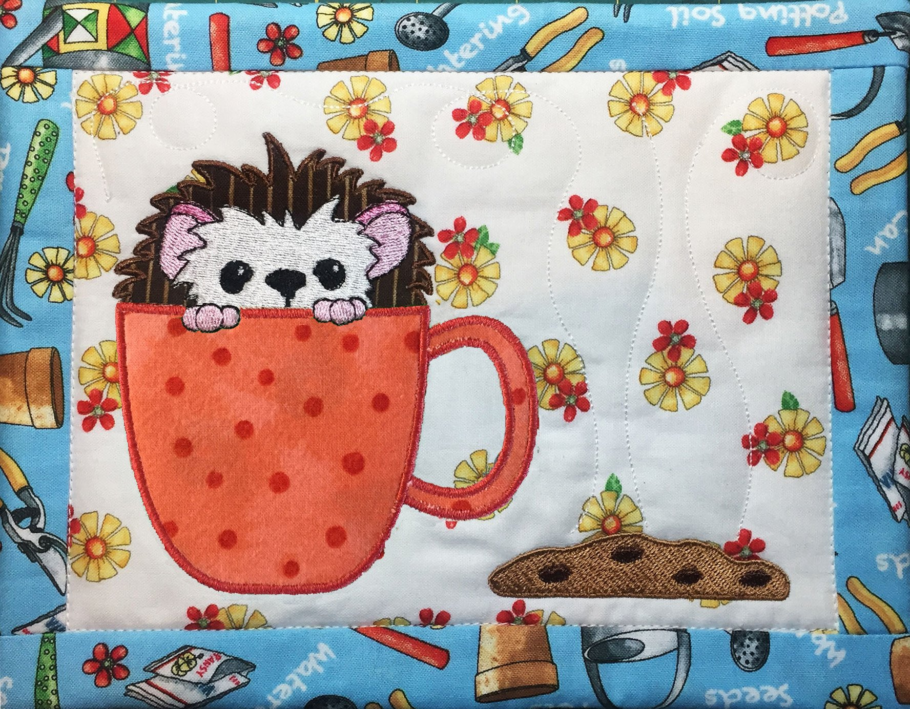 Cookie Time - Hedgehog Mug Rug Pattern only