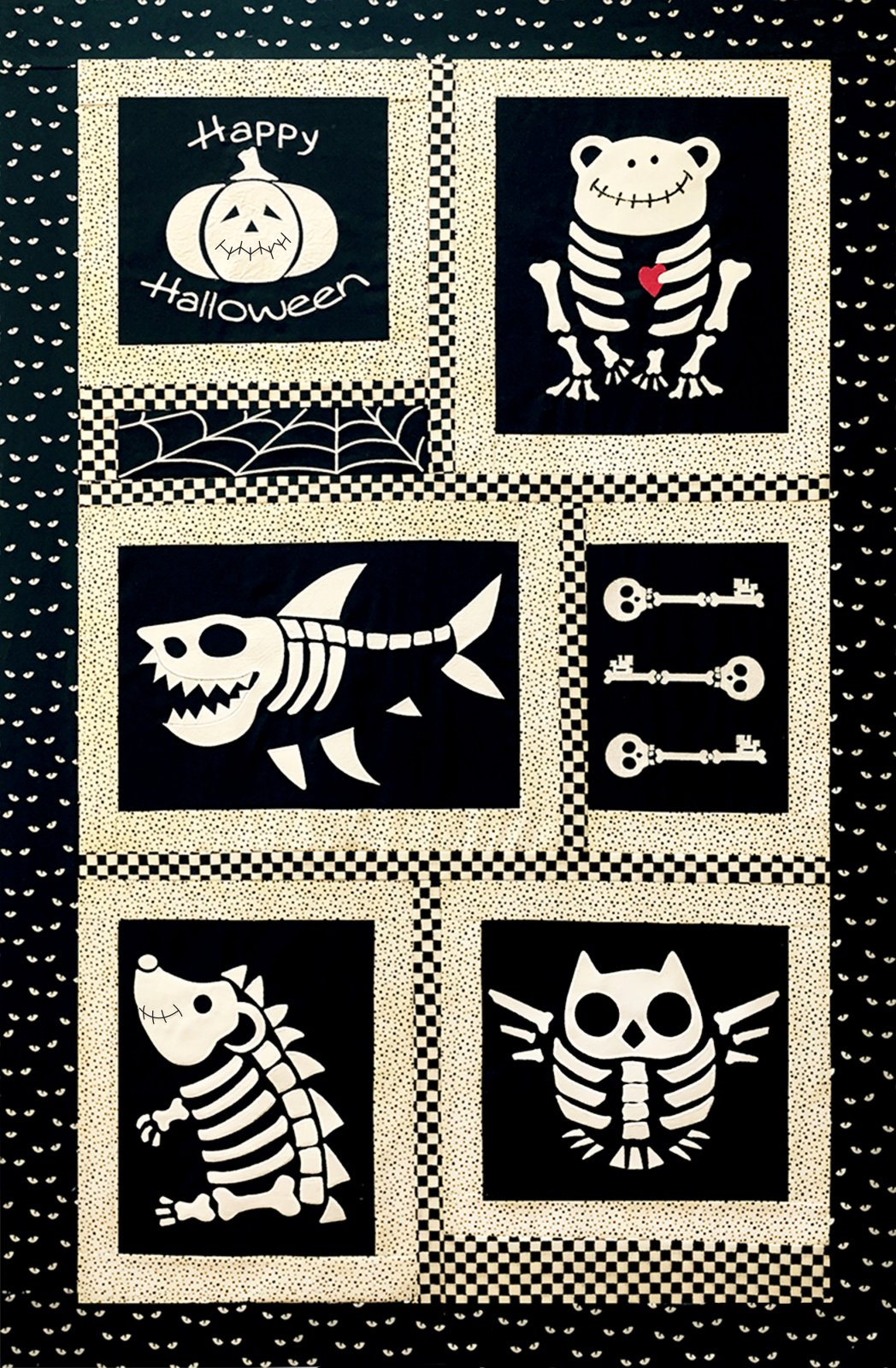 Boneyard Buddies Glow-in-the-Dark Laser Cut images w/applique pattern HQH