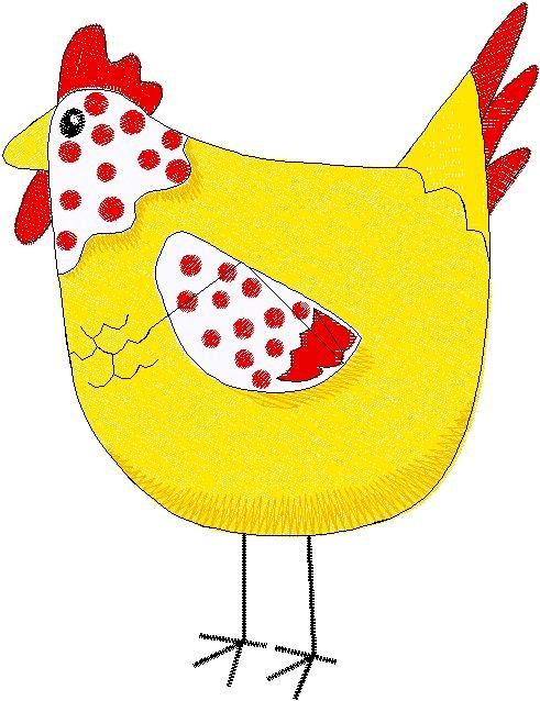 Patchwork Farms Chicken Embroidery Download (ED-03-E4)