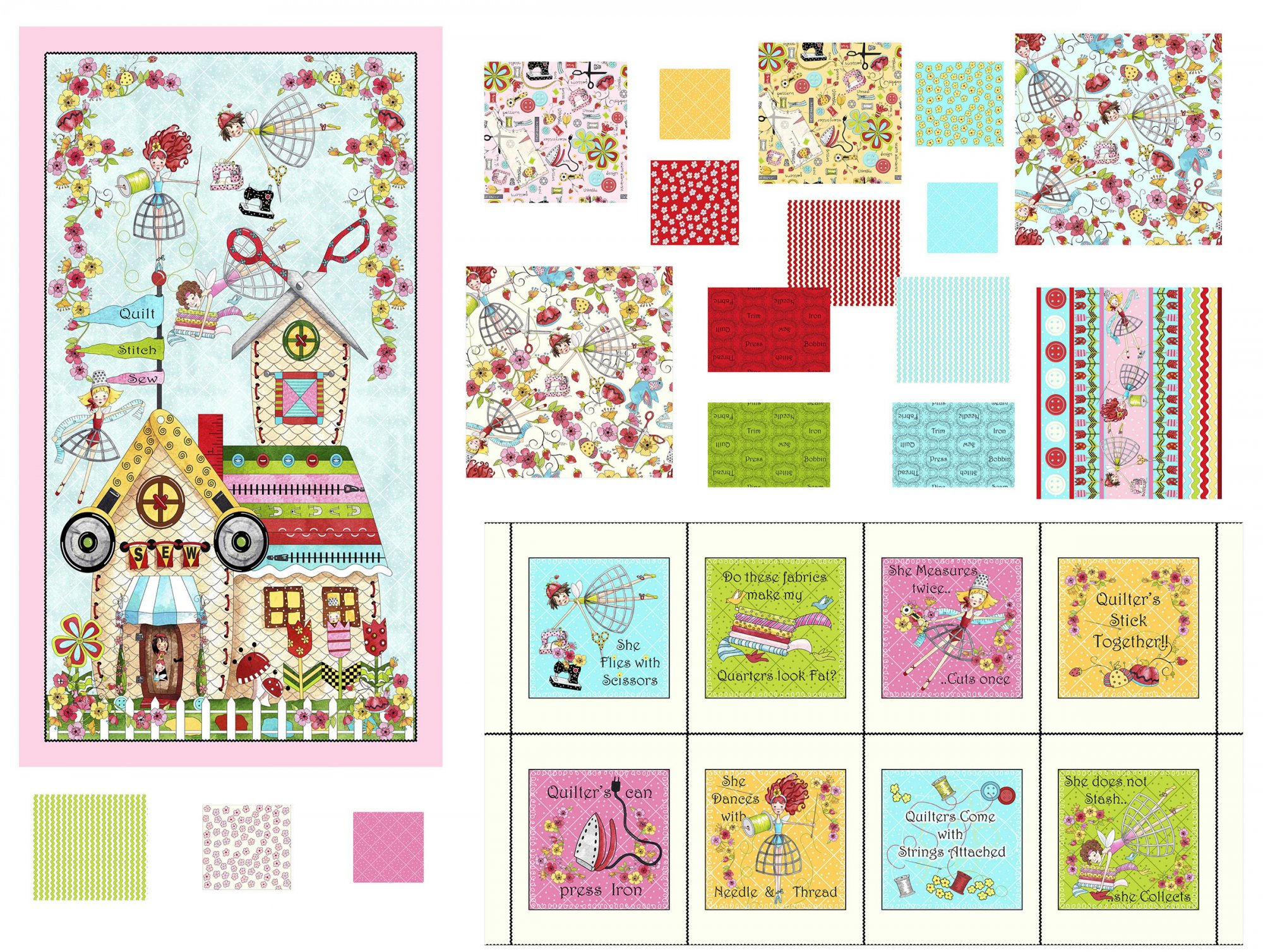 Desirees Designs Whimsical Quilt Patterns Fun Fast Fabulous