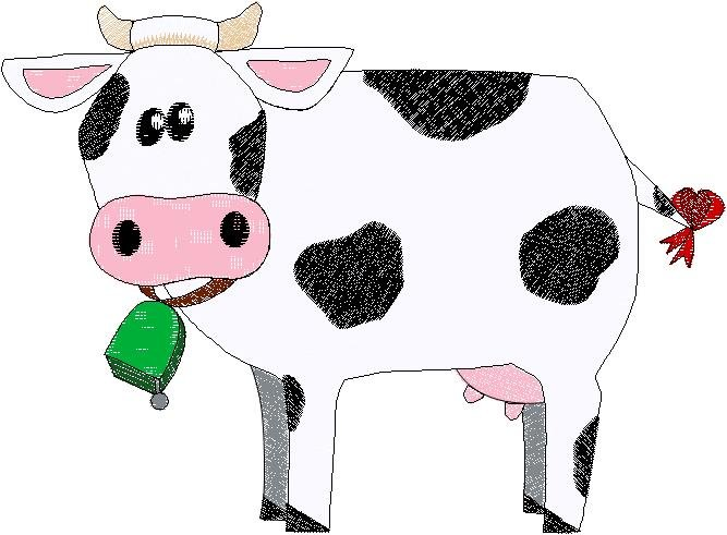 Patchwork Farms Cow Embroidery Download (ED-03-E6)